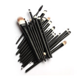 20 PCS Fondation Eyeshadow Eyeliner Noir pinceau de maquillage