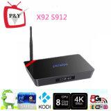 Bester PRO2g/16g Doppelband2.4g/5g WiFi Android 6.0 Amlogic S912 Fernsehapparat-Kasten