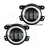 Hot Sale 4 Inch 30W LED para Jeep Wrangler Fog Lamp com Halo Ring
