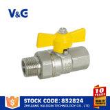 Vávula de bola de cobre amarillo roscada del gas del gas natural (VG-A62051)