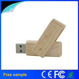 Movimentação de madeira de venda quente do flash do USB do giro 2016 para o presente relativo à promoção