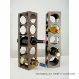 Regalo Clásico Madera Decorativa Mesa De Vino Botella Almacenamiento Display Rack