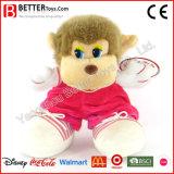多彩な布の柔らかいおもちゃのぬいぐるみ猿