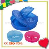 Os mini 3 compartimentos Pocket a caixa do comprimido