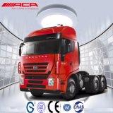 Camion d'entraîneur de la cabine 340HP de toit plat de Saic-Iveco Hongyan 6X4 50t long