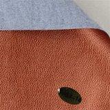 Couro do sofá do PVC da grão do Litchi para o material de matéria têxtil Home (806#)