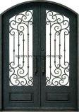 Porta da rua Hand-Made da entrada dobro de ferro feito da fábrica de China