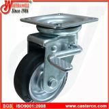 Chasse industrielle en caoutchouc noire d'émerillon de 6 pouces avec le frein