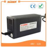 Suoer 12A 48V 지도 산성 전기 자전거 배터리 충전기 (MB-4812A)