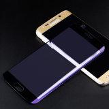 Anti protetor tocante liso azul da tela do vidro Tempered para a borda de Samsung S7/S7