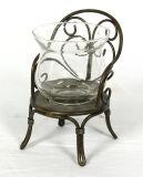 Palmatoria de madera de los sostenedores de vela de la silla creativa
