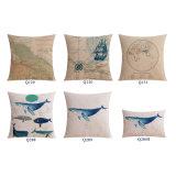 Печать роскошного хлопка Linen подушки квадрата 18 дюймов декоративные