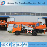 LKW-Kran-hydraulischer Kran mit dem hängenden Korb