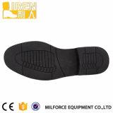 Ботинки офиса черной обуви армии подкладки PU кожи коровы Gueuine кожаный воинские