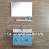 Einfach aber moderne Edelstahl-Badezimmer-Eitelkeit mit Regal