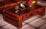 포도 수확 가죽 비행가 커피용 탁자