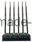 Emittente di disturbo registrabile del cellulare di 15W 3G/4G con l'antenna potente 6