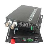 Vídeo al convertidor video óptico de fibra de los canales del convertidor 8 de la fibra