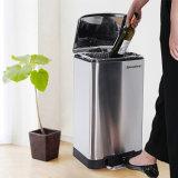 Küche-Sortierfach-Pedal-Mülleimer mit Verlangsamung-Einheit 30 L Edelstahl