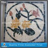 Kundenspezifisches Marmor-u. Travertin-Kunst-Mosaik-Ideen-Muster für Fußboden-Fliesen