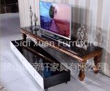 Tabella di vetro alla moda di Woodern del basamento della parte superiore TV della mobilia domestica di lusso