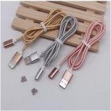 Câble magnétique de chargeur de câble en nylon de tresse pour le Type-c argent/d'or/rose