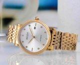 Edelstahl-Datum-Shell-Vorwahlknopf-automatische Uhr