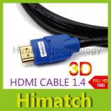 HDMI au câble audio vidéo Version 1.4 Gold 1080P de HDMI Cable