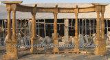 SteinMarble Garten Gazebo mit Casting Iron Top (GR034)
