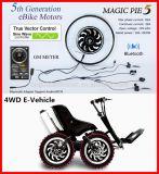 kit eléctrico del motor de la bici de 250W 500W 1000W con el regulador de la onda de seno