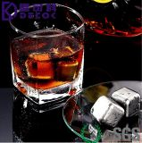 Wine Chillers SUS 304 Roches de refroidissement en acier inoxydable Sipping Stones pour boire du soda par Whiskey Stones Ice Cube