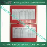Kit rojo del surtido del anillo o de Mertic del caucho de silicón del rectángulo