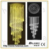De optische Decoratie die van de Vezel ofc-012 Daling 2m in de Kroonluchter van het Kristal van de Lengte aansteken
