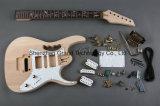 3-Ply weißer Pearloid Pickguard Installationssatz der Gitarren-DIY