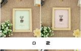 """両面の木の写真フレームのクラフトのホーム装飾フレーム(4*6 """")"""