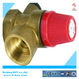 Soupape de sûreté automatique modifiée de soupape de décompression de couleur en laiton normale de corps BCTSV03 1.5-8Bar