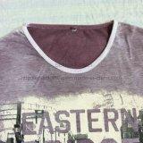 Maglietta sbiadetta viola del manicotto di estate la breve nello sport dei lavori o indumenti a maglia degli uomini copre Fw-8669