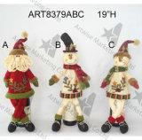 Cadeau -3asst de Noël de bonhomme de neige de Santa de premier chapeau