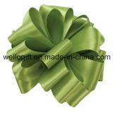 卸し売り販売のためのポリエステル両面のサテンによって印刷される緑のリボン