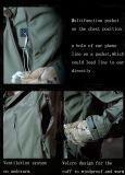 Softshell 녹색 물자 Hoodie 재킷 (QF-4124)