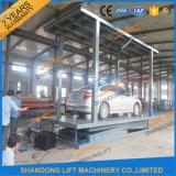 Levage hydraulique d'ascenseur de paquet de double de véhicule électrique pour les garages à la maison
