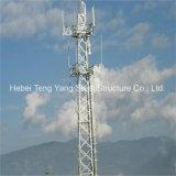 판매된 55m Q345b에 의하여 직류 전기를 통하는 통신 각 강철 격자 탑
