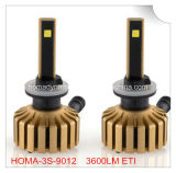 2016 novo! 9012 farol 7200lm do diodo emissor de luz do farol 6000k 60W do diodo emissor de luz, Sell grande do mercado de Japão!