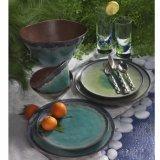 Het natuurlijke Vaatwerk van de Plaat van het Diner van de Melamine van Elementen, Turkoois