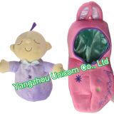 Het zachte Gevulde Dier nestelt zich de Baby van het Stuk speelgoed van de Pluche van de Pinda van de Peul - pop