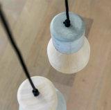 Lámpara pendiente de hormigón moderna Caracole Industrial Estilo E27 madera Muti color para Comedor