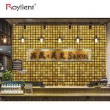 Do mosaico metálico da etiqueta da parede do mosaico de Royllent a cor dourada telha a decoração do banheiro de DIY