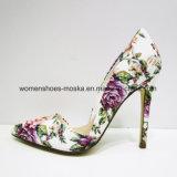 Самый последний ботинок платья высокой пятки женщин конструкции с заострённый пальцем ноги