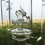 De fantastische Reusachtige Dubbele Kringloop Rokende Waterpijpen van het Glas (S-GB-286)