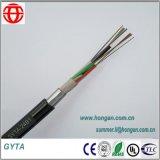 24 câbles de fibre optique de faisceau avec la bande en aluminium ondulée Amoring